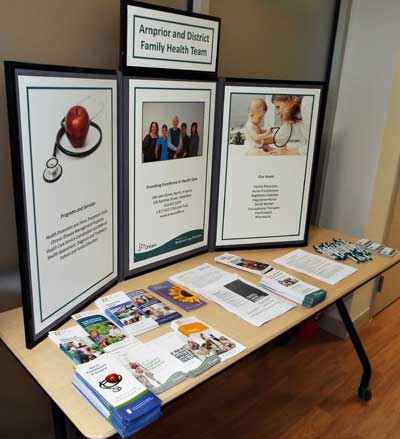 display at the clinic