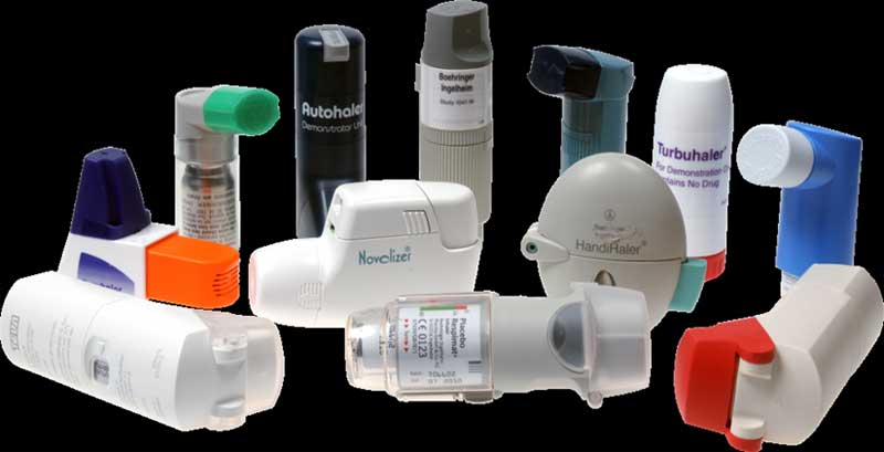 respiratory devices and inhalers